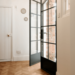 Internal Double Doors <br>Kickplate & Key Locker Design