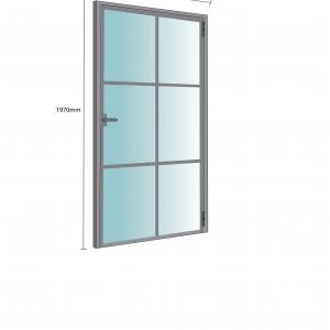 Internal Single Doors <br>Cross Bars Design